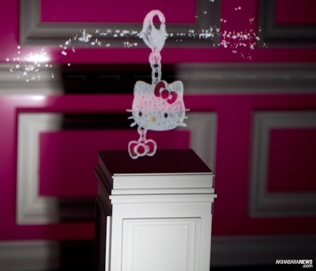 hello kitty 3d holographic display