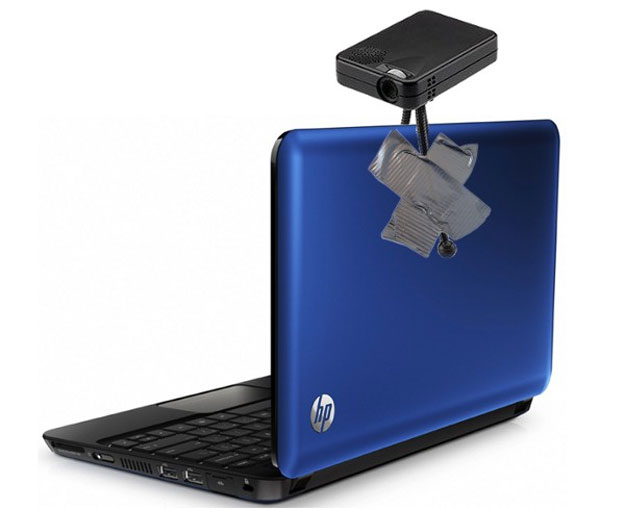 HP notebooks with built-in pico projectors