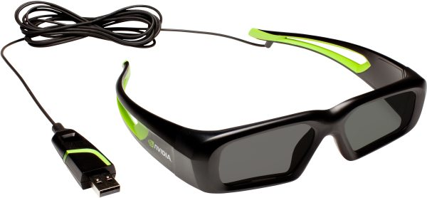 NVIDIA wired 3D Vision glasses