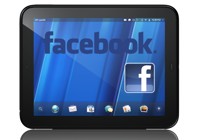Official Facebook App for webOS Tablet HP TouchPad