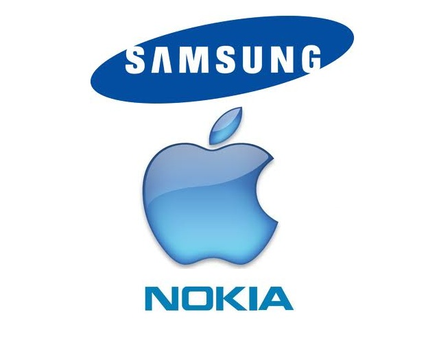 samsung apple nokia smartphones