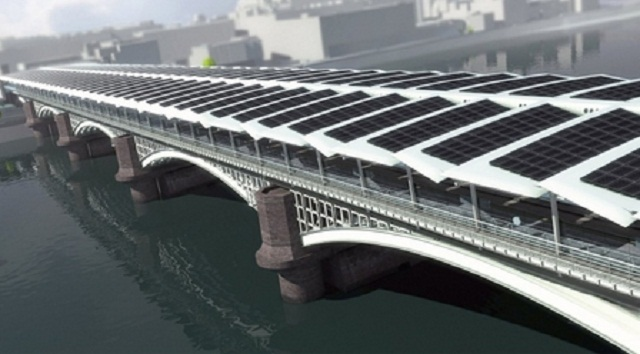 Blackfriars Railway station Solar Bridge