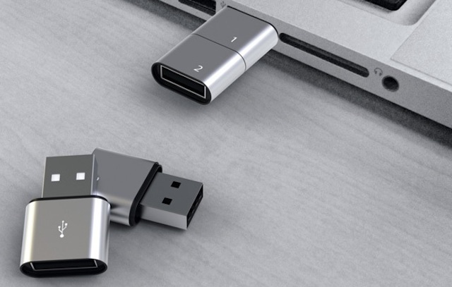 Storage Modular USB flash drive concept