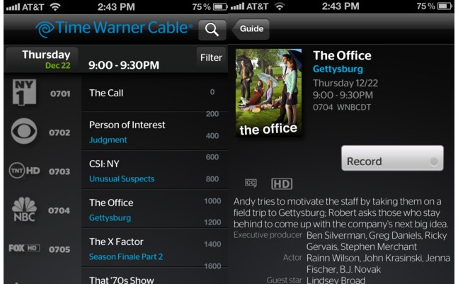 iphone live streaming via warner app