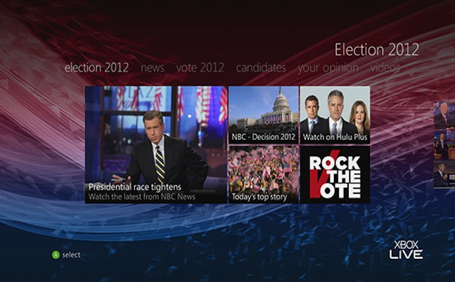 microsoft xbox US presidential election
