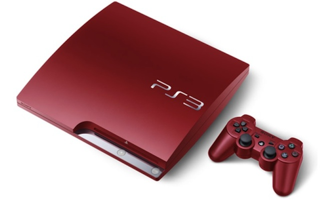 Red Sony PS3 Playstation 3 now available in UK