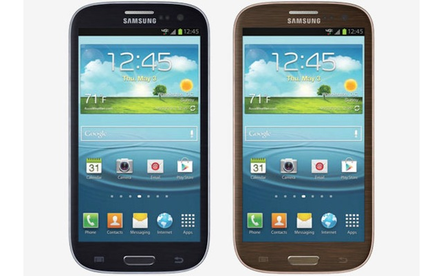 black and brown samsung galaxy s III