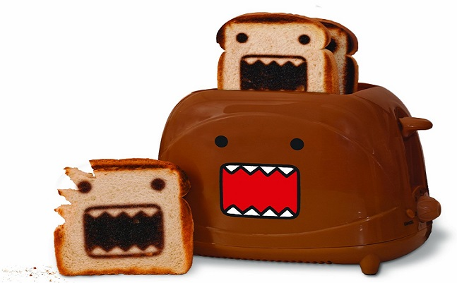 Domo Toaster makes yummy little Domo-kun