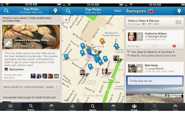 updated foursquare ios app