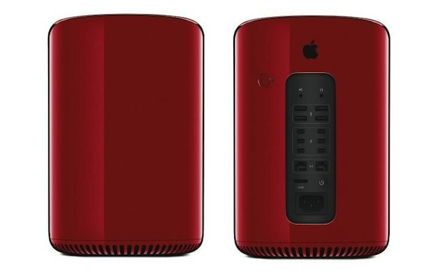 Jony Ive Designed red Mac Pro