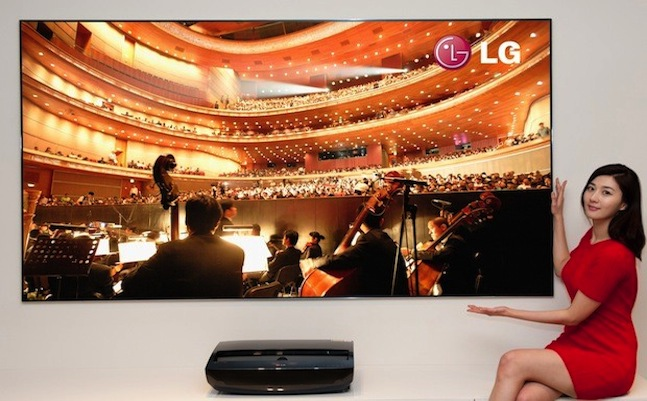 LG Cinema Beam short-throw laser projector