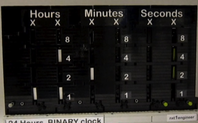 Lego Binary Clock