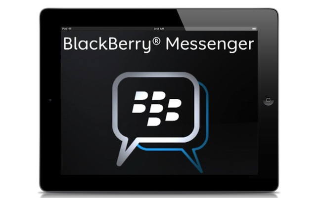 blackberry messenger ipad app
