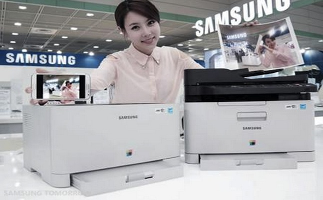 samsung nfc enabled color laser printer