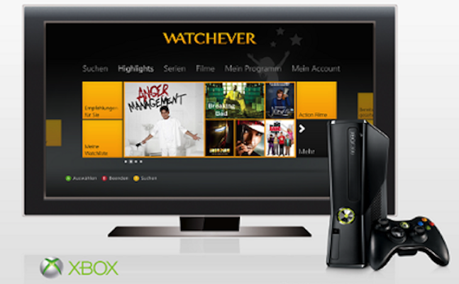 watchever xbox live