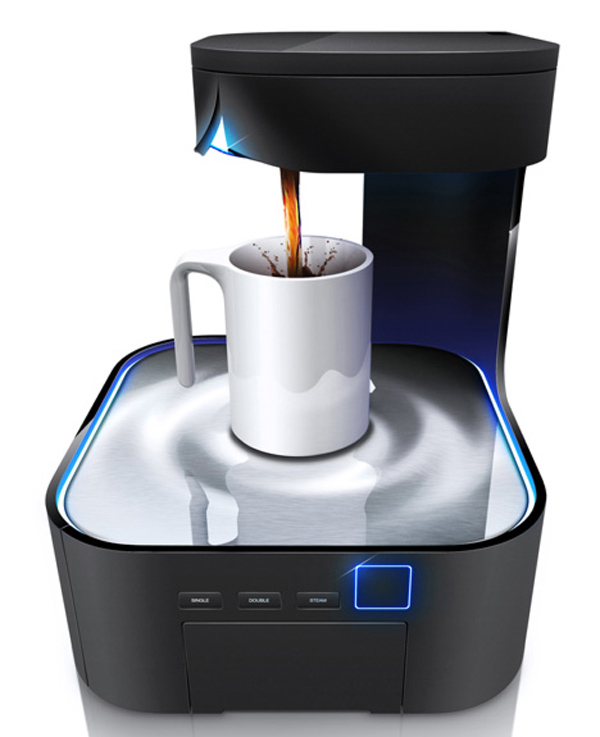 Futuristic Coffee Maker Graces Us With Its Presence