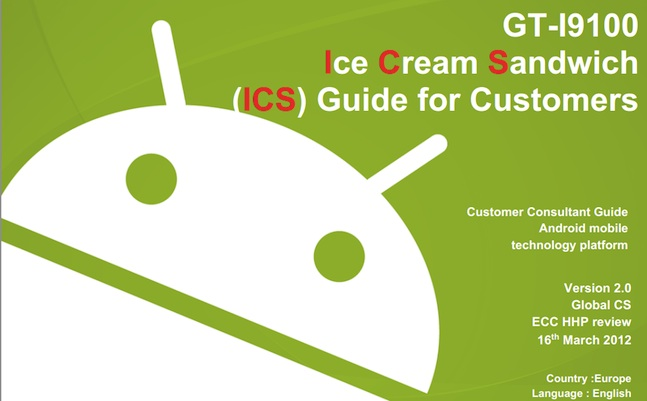 android ice cream sandwich update