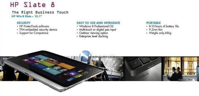 HP Slate 8 tablet
