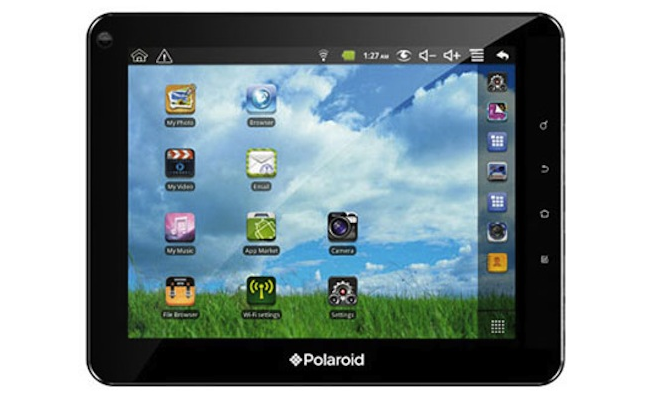 Android tablet. The 10-inch tablet runs Ice Cream Sandwich and