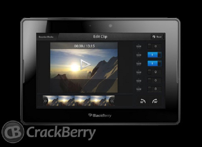 BlackBerry 10 video editor