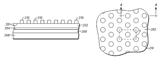 Motorola anti-smear display technology patent