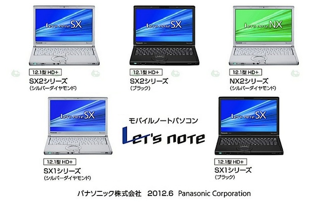 Panasonic Lets Note SX and NX Series